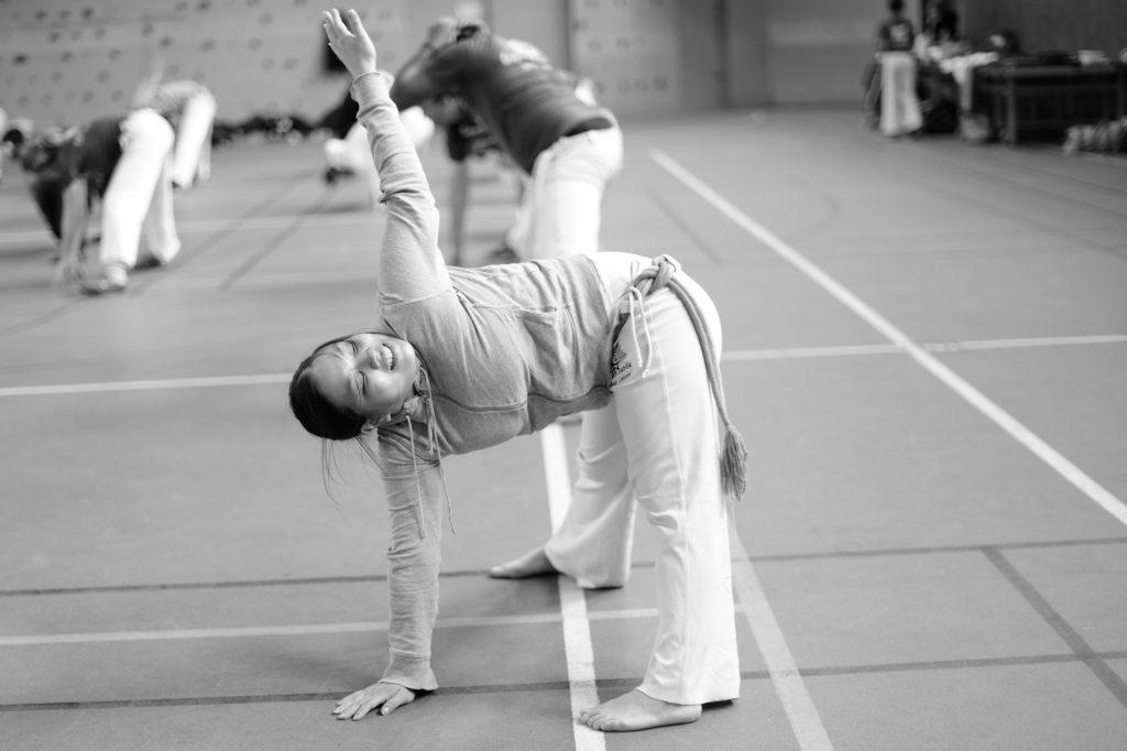 Capoeira débutant étirement